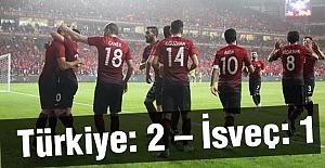 Türkiye: 2 – İsveç: 1