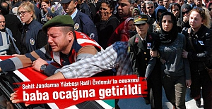 Yüzbaşı Halil Özdemir'in cenazesi baba ocağına getirildi