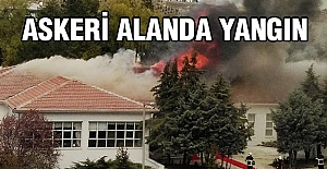 Askeri alanda yangın paniği