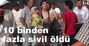 Esed ve Rus bombardımanında 10 binden fazla sivil öldü