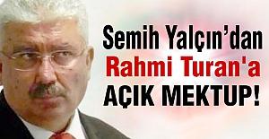 MHP'li Yaşçın'dan Rahmi Turan'a Mektup!