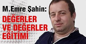 Murat Emre Şahin: Değerler ve Değerler Eğitimi
