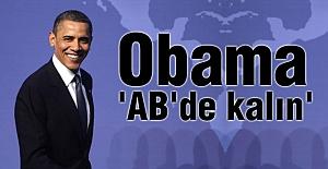 Obama; 'AB'de kalın'
