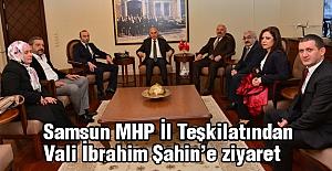 Samsun MHP İl Teşkilatı Vali Şahin'i Ziyaret Etti