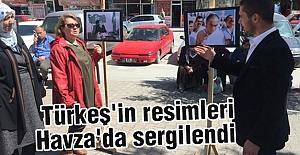 Türkeş'in resimleri Havza'da sergilendi