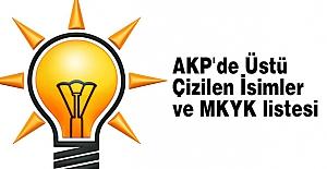 AKP'de Üstü Çizilen İsimler ve MKYK listesi