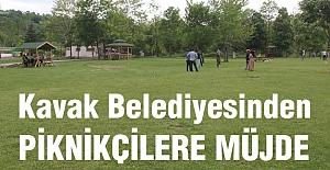 Kavak belediyesi'nden Piknikçilere Müjde