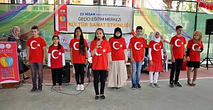 Suriyeli öğrencilerin kültür-sanat sevinci