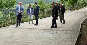 Tekkeköy'de yol seferberliği