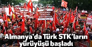 Almanya'da Türk STK'ların yürüyüşü başladı