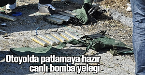 Mersin'de TEM Otoyolu'nda patlamaya hazır 2 canlı bomba yeleği bulundu