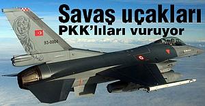 Savaş uçaklarımız Dağdaki PKK'yı Vuruyor