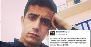 Şehit Polis şehit arkadaşını bu sözlerle uğurlamıştı