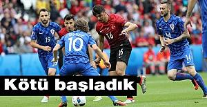 Türkiye, Hırvatistan'a 1-0