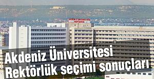 Akdeniz Üniversitesi rektörlük seçimi sonuçları