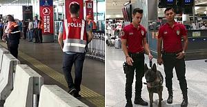 Atatürk Havalimanı'nda bariyerli ve köpekli önlem