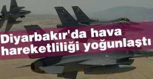 Diyarbakır'da hava hareketliliği yoğunlaştı