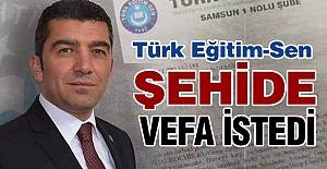 Türk Eğitim Sen, Şehide Vefa İstedi