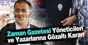 Zaman Gazetesi Yöneticilerine Gözaltı...