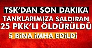 25 PKK-PYD üyesi Etkisiz Hale Getirildi