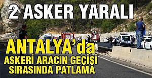 Antalya'da Askeri Araca Pusu!