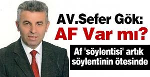 AV.Sefer Gök:  AF Var mı?