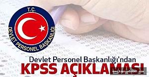 Devlet Personel Başkanlığı'ndan KPSS Açıklaması