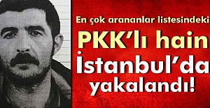 En çok aranan listesindeki terörist  yakalandı
