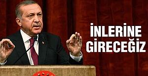 Erdoğan: İnlerine Gireceğiz