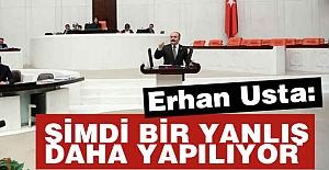 Erhan Usta: Şimdi Bir Yanlış Daha Yapılıyor