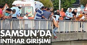 Samsun'da Köprüde İntihar Girişimi