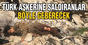 Türk Askerine Saldıranlar Böyle Geberecek