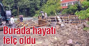Zonguldak'ta Yağış Hayatı Felç Etti
