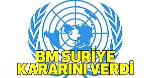 BM Suriye Kararını Verdi
