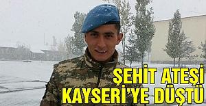 Şehit Ateşi Kayseri'ye Düştü!
