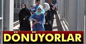 Suriyeliler Dönmeye Başladı