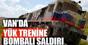 Van'da Yük Trenine Saldırı