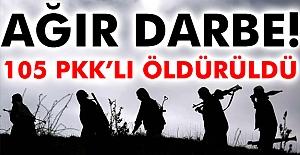 105 PKK'lı Öldürüldü
