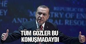 Erdoğan, Dünya Enerji Kongresi'nde katılımcılara hitap etti