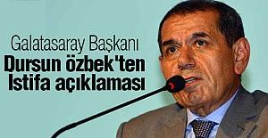 Galatasaray Başkanı Özbek'ten İstifa Açıklaması