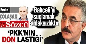 """""""MHP Genel Başkanını suçlamak ahlaksızlıktır."""""""