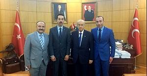 MHP Samsun Teşkilatından Erhan Usta'ya Tebrik