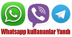 Whatsapp kullananlar Yandı