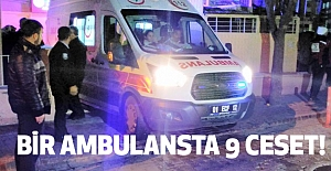 Adana'da Bir Ambulansta 9 ceset