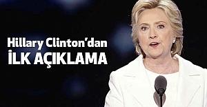 Clinton'dan ilk açıklama