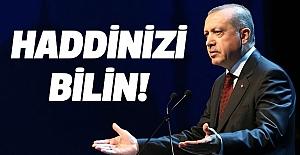 Cumhurbaşkanı Erdoğan; Haddinizi Bilin!