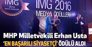 """Erhan Usta, """"En Başarılı Siyasetçi"""" Ödülü Aldı"""