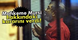 Mursi Hakkında Karar!