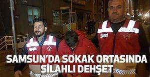 Samsun'da Sokak Ortasında Silahlı Dehşet!
