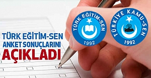 Türk Eğitim Sen, Anket  Sonuçlarını Açıkladı